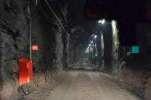 ▲地下420mまで続く坑道
