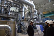 ▲視察したヴオーサリ熱電併給施設