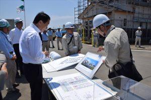 東矢本駅北地区災害公営住宅の建設現場